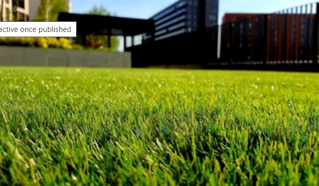 Picture of lawn at ground level with a home and beautiful landscape in the background